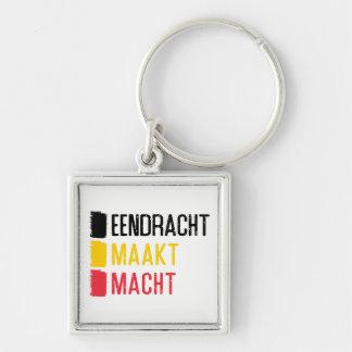 Eendracht Maakt Macht Keyring, Belgian Motto Keychain