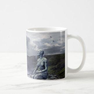 Eerie Alien and Spaceship Coffee Mug