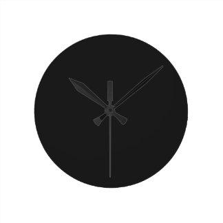 Eerie Black Round Wall Clock
