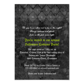 Eerie Halloween Party invitation