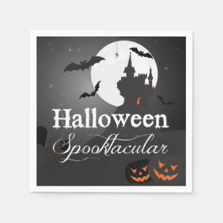 Eerie Halloween Spooktacular Party Disposable Napkins