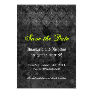 Eerie Halloween Wedding Save the Date Card