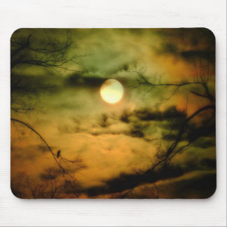 Eerie Lunar Night Mouse Pads