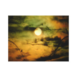 Eerie Moonlit Sky Canvas Print