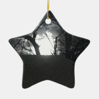 Eerie Morning Ceramic Ornament