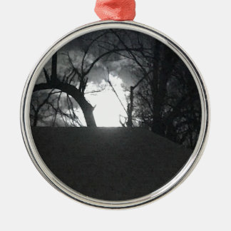 Eerie Morning Metal Ornament