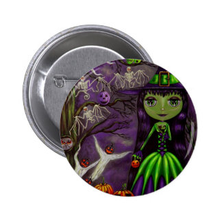 Eerie Night Halloween Button