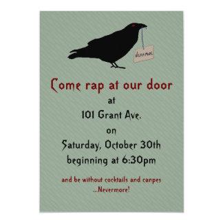Eerie Raven Halloween Party Invitation