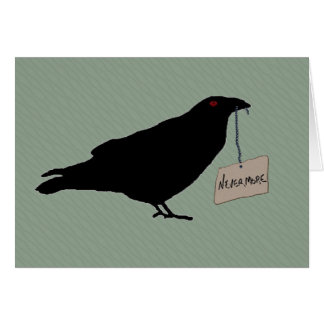 Eerie Raven Note Card