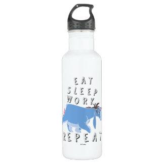 Eeyore   Eat Sleep Work Repeat 710 Ml Water Bottle