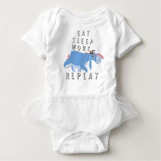 Eeyore | Eat Sleep Work Repeat Baby Bodysuit
