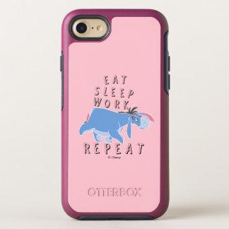 Eeyore | Eat Sleep Work Repeat OtterBox Symmetry iPhone 8/7 Case