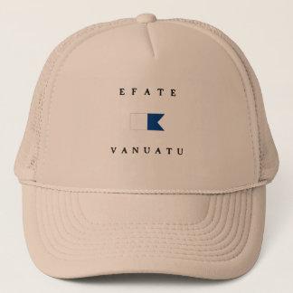 Efate Vanuatu Alpha Dive Flag Trucker Hat