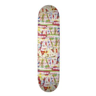 Effacement de griffonnage d'éraflure skateboard customisable