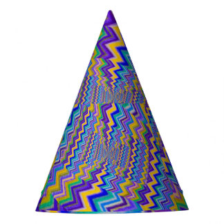effect droste of multicolored vortex on party hat