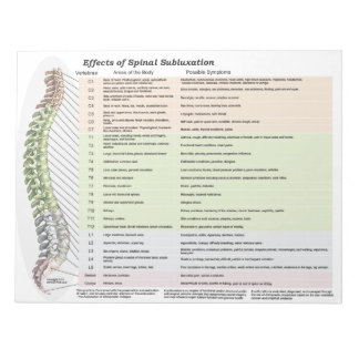 Effects of Spinal Subluxation Tear Off Notepad