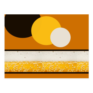 Effervescence of Beer Postcard