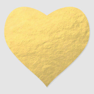Effet de feuille d'or de Faux imprimé Sticker Cœur