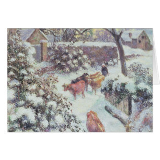 Effet de Neige a Montfoucault, 1882 Card