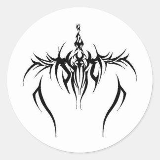 effet tribal de tatouage autocollants ronds