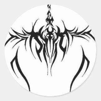 effet tribal de tatouage adhésif rond