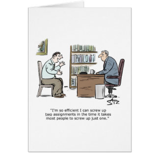 Efficient employee greeting card