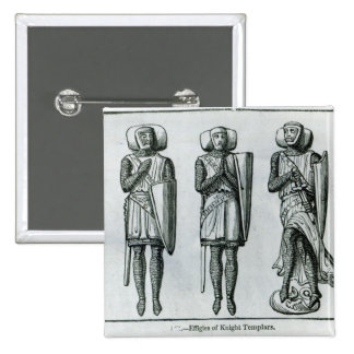 Effigies of Knight Templars 2 Inch Square Button