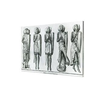 Effigies of Knight Templars Stretched Canvas Print