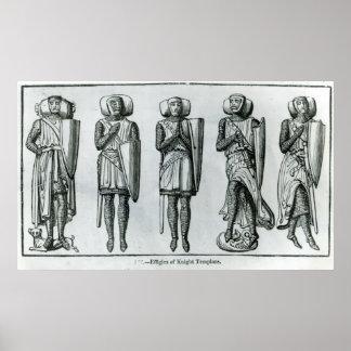Effigies of Knight Templars Poster