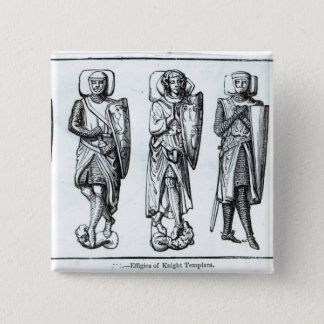 Effigies of Knights Templars 2 Inch Square Button