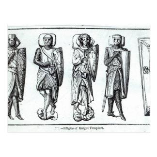 Effigies of Knights Templars Postcard