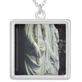 Effigies of Philippe III Silver Plated Necklace