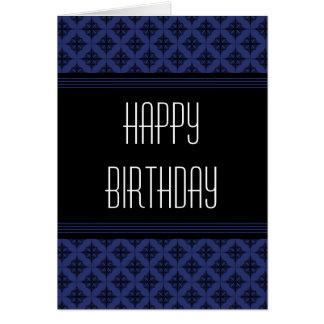 Effortlessly Stylish Happy Birthday Card, Blue