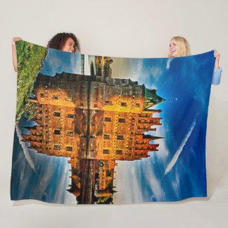Egeskov Castle, Denmark Acrylic Art Fleece Blanket