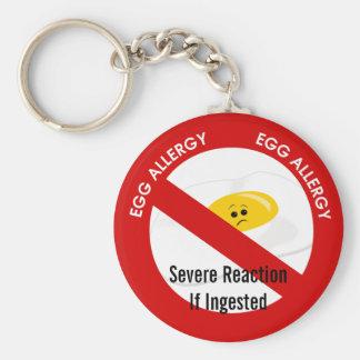 Egg Allergy Alert Basic Round Button Keychain