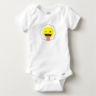 Egg and Bacon Wink Baby Onesie