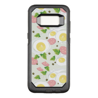 Egg and Sausage Pattern OtterBox Commuter Samsung Galaxy S8 Case