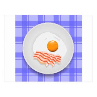 egg bacon postcard