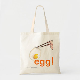 egg budget tote bag