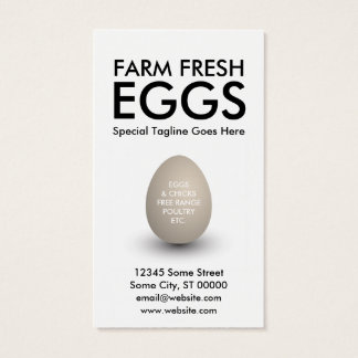 egg business card