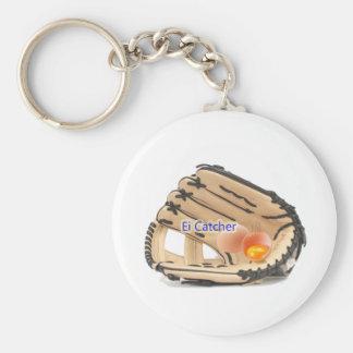 EGG Catcher Basic Round Button Keychain