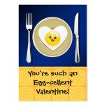 Egg-cellent Kawaii Valentine Large Business Cards (Pack Of 100)