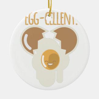 Egg-cellent Round Ceramic Ornament