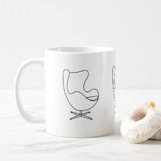 Egg-chair illustration coffee mug