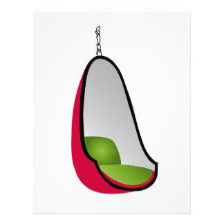 Egg chair- interior design furniture letterhead design