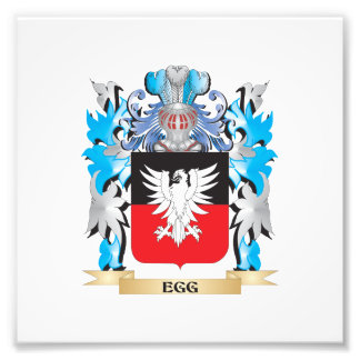 Egg Coat of Arms - Family Crest Photographic Print