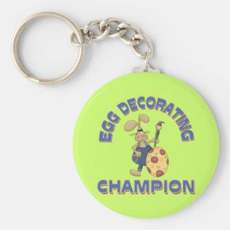 Egg Decorating Champion Basic Round Button Keychain