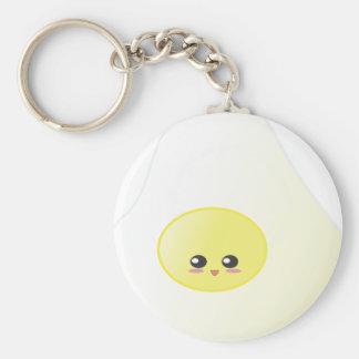 Egg - Egg Basic Round Button Keychain