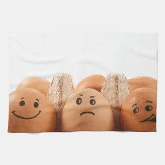 Egg emotions. kitchen towel