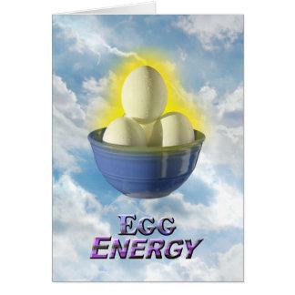 Egg Energy - Vert Greeting Card